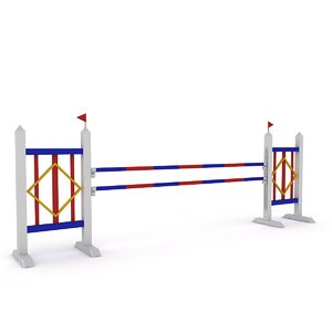3D horse jump obstacle model