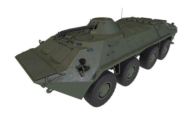 btr btr-70 russian 3D