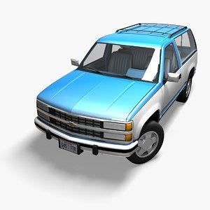 chevrolet k5 blazer 3D model
