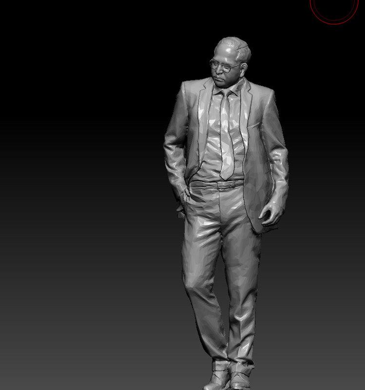ambedkar sculpture 3D model