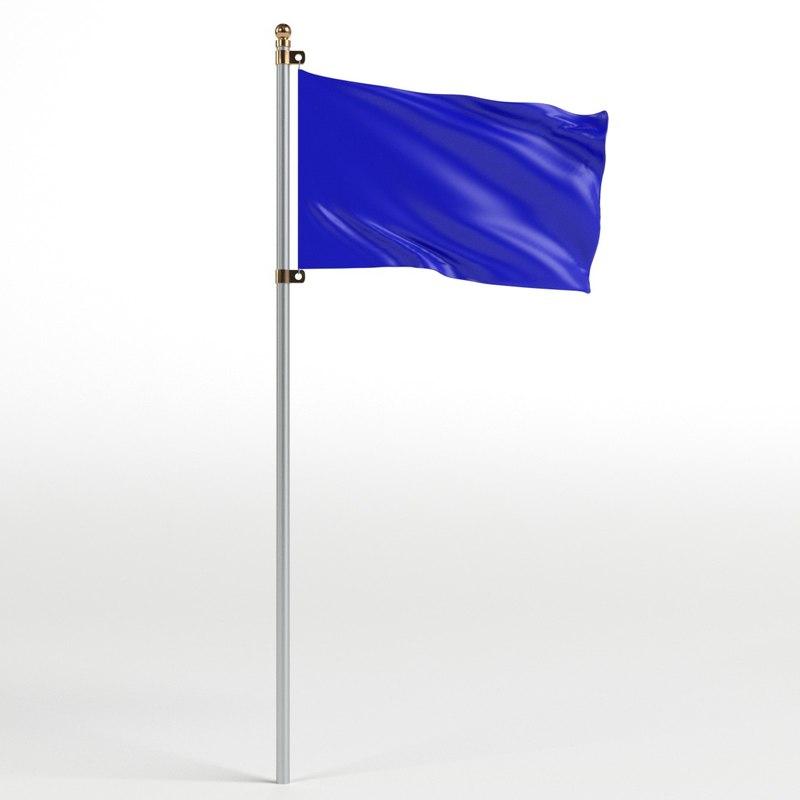 flag pole 1 3D
