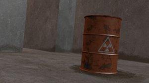 activeradio barrel 3D model