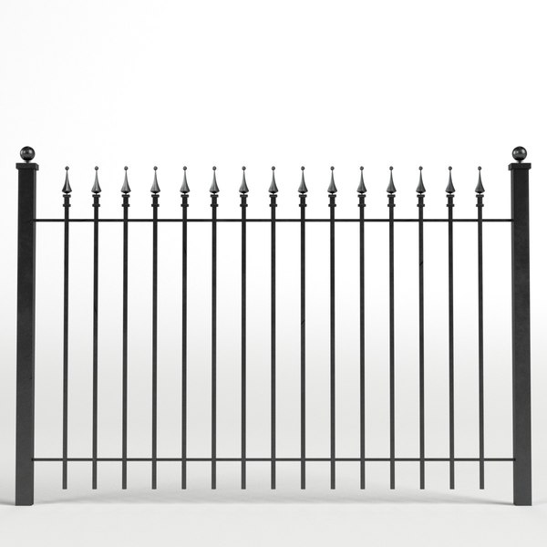 iron fence 3D