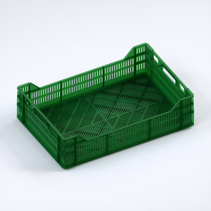 3D plastic crate 600x400x160 model