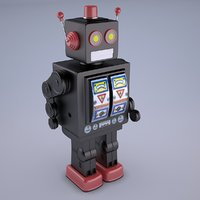 Mr D Cell Vintage Style Collectible Electron Star Strider Robot