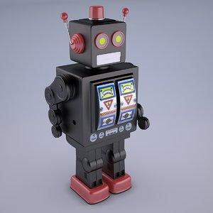 3D robot vintage strider