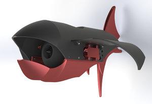 3D model underwater drone race
