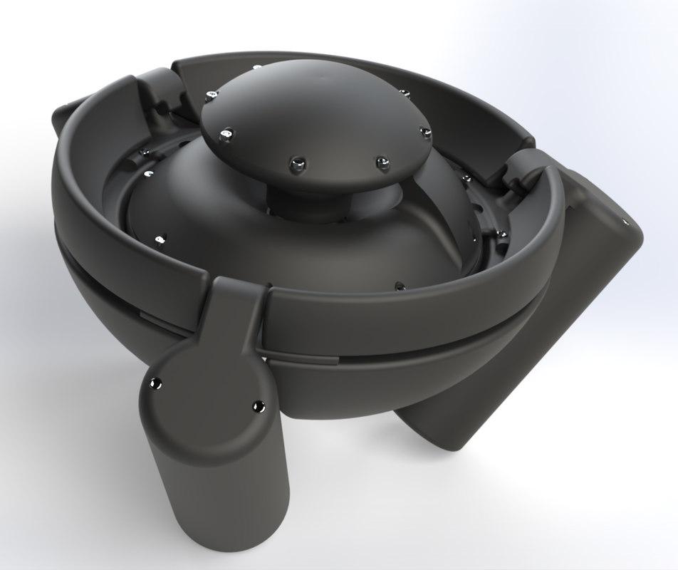 float station underwater drone 3D model