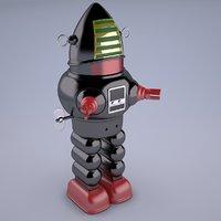 robot toy vintage 3D model