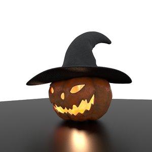 3D hallowen pumpkin