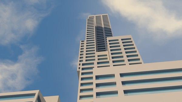 3D office skyscraper