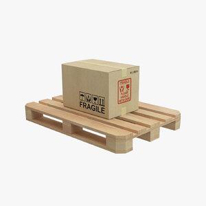 pallet cardboard box 3D model