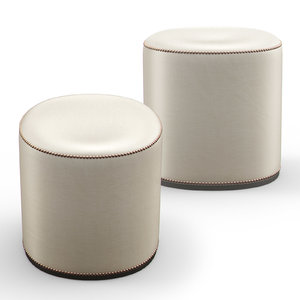 bespoke ottoman stool pouf 3D model