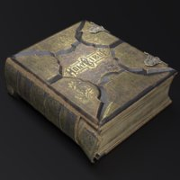 old bible book model