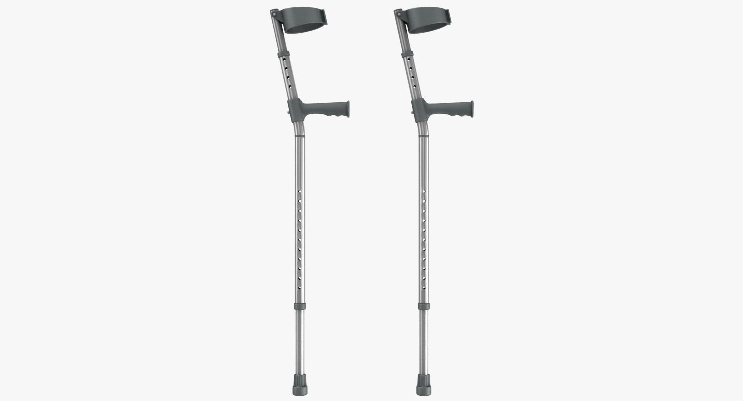 3D elbow crutches