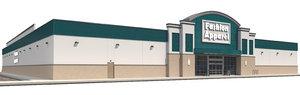 3D model exterior retail store