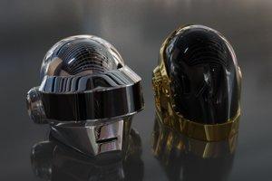 daft punk helmets 3D model