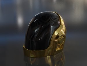 3D guy-manuel daft punk helmet