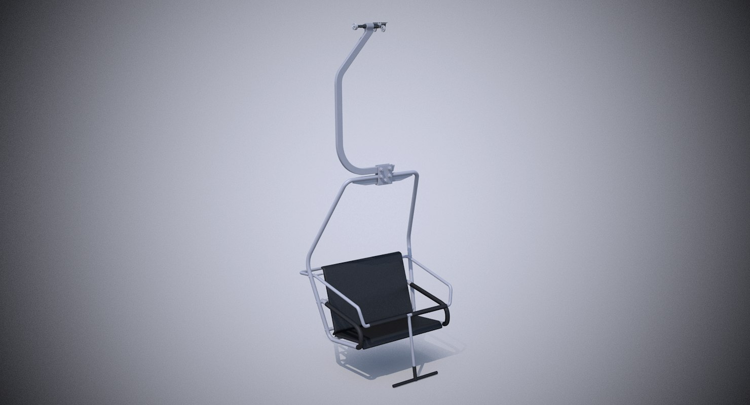 chairlift seat station 3D model