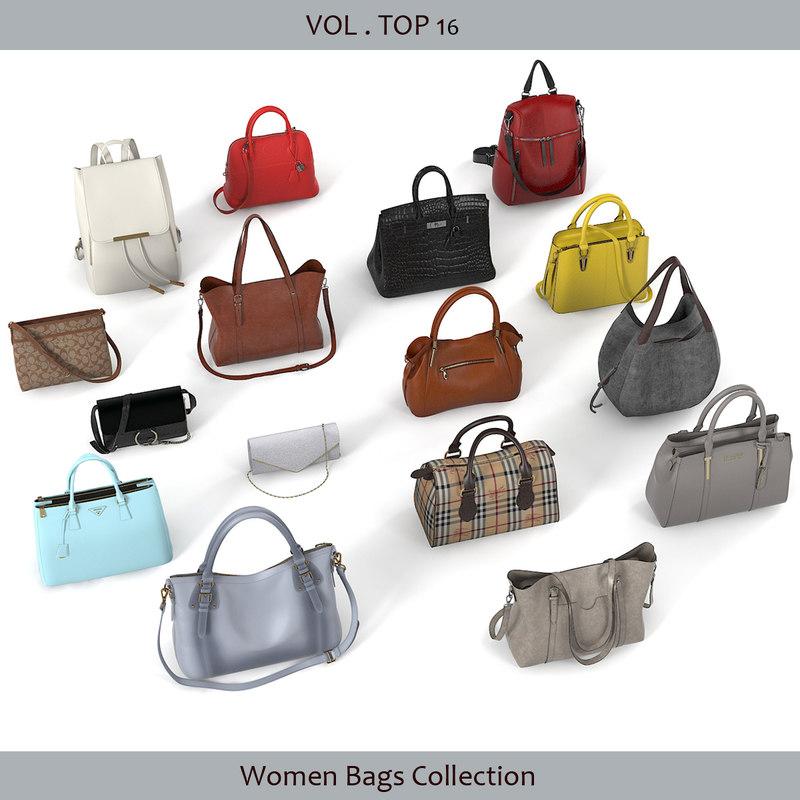 women bags 3D model