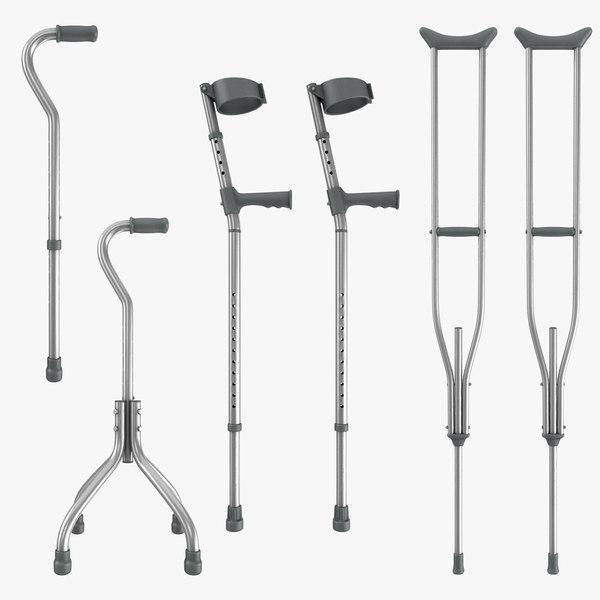 3D cane walking offset
