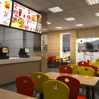 3D fast food restaurant model