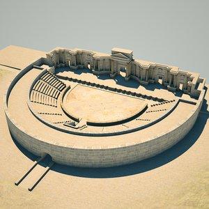 palmyra theatres roman 3D