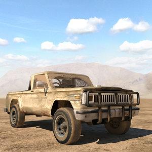 3D jeep j20 truck