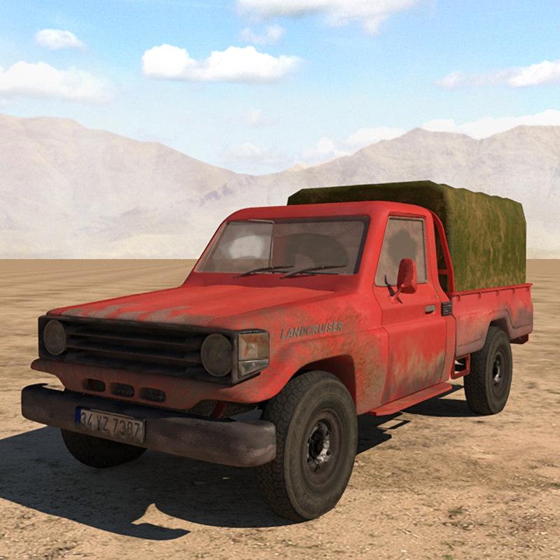 3D toyota land cruiser truck