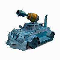 war tank ar 3D model