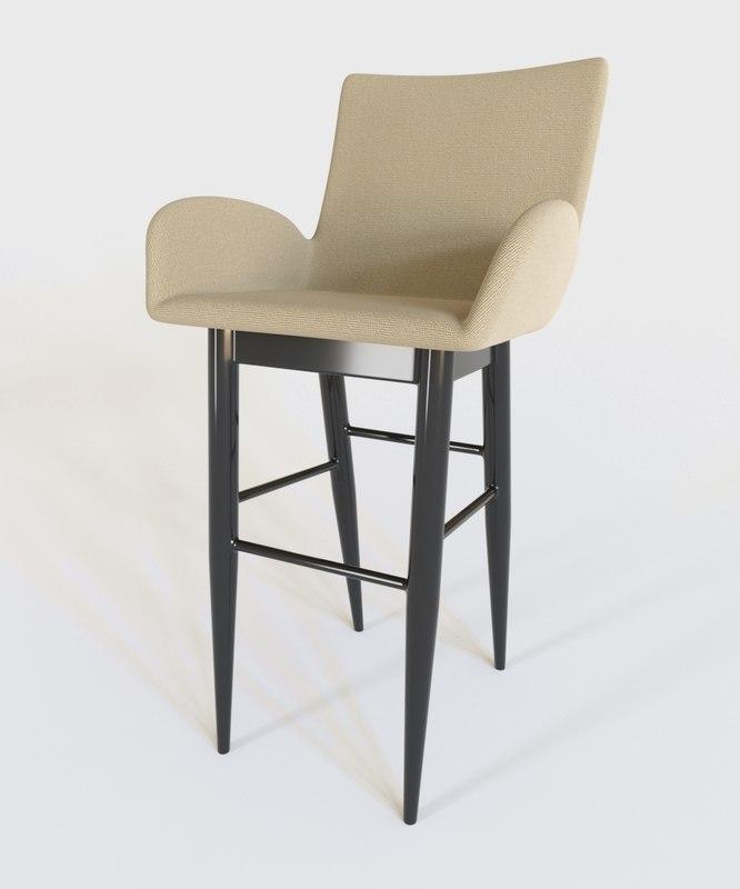 3D chair corona renderer model