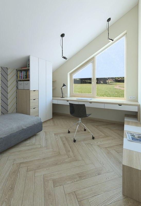 interior bedroom room 3D model
