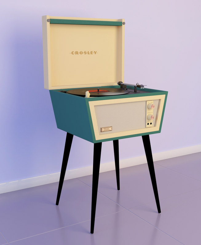 3D model crosley dansette turntable