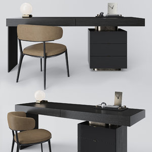 minotti carson writing desk 3D model