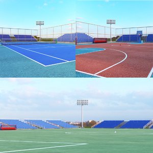 3D sports courts