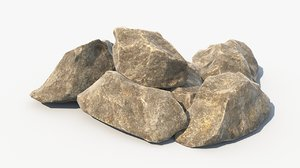 realistic set rock formation model