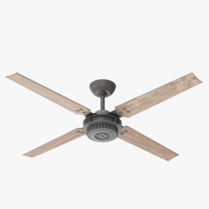 ceiling fan chronicle wood 3D