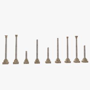 ancient columns model