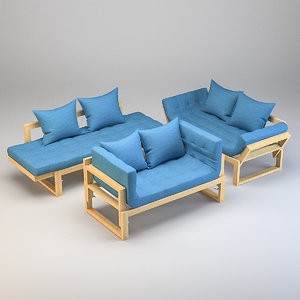 couch pillows 3D model