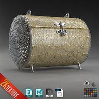 Cylinder MakeUp HandBag Jewelry Box