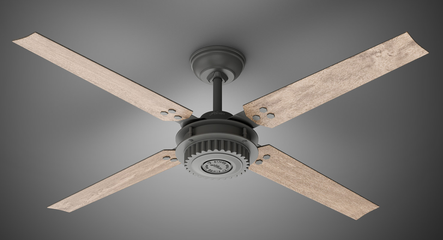 ceiling fan chronicle wood 3D