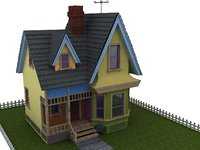 carl house animation 3D