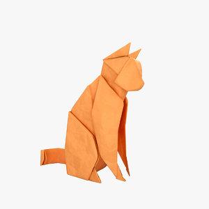 origami cat 3D