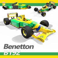 1992 formula 1 benetton 3D