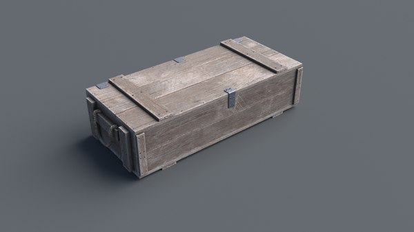 wooden box 4 closed model
