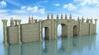 3D bridge fantasy model