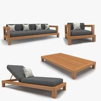 3d cordoba sofa chair