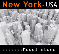 new york city buildings 3D model