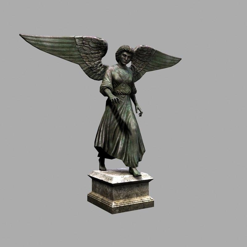 bethesda statue 3D model