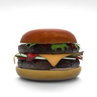 burger lettuce cucumber model